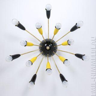 Sputnik 14 - Armig Deckenlampe 50er Spinne Mid Century Vintage Lampe Lamp 60er Bild