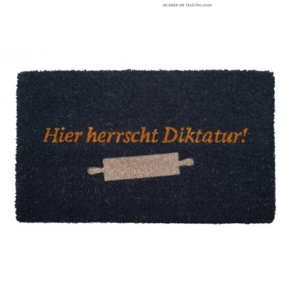 Türmatte - Fußmatte Hier Herrscht Diktatur Von Giftcompany Ab 2000 Bild