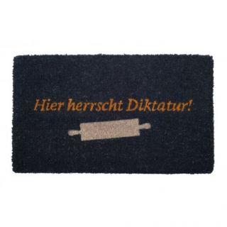 Türmatte - Fußmatte Hier Herrscht Diktatur Von Giftcompany Bild