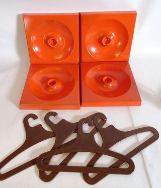 Schönbuch Quadro Gardarobe 5 Elemente Inkl Haken,  Kleiderbügel Space Age Orange Bild