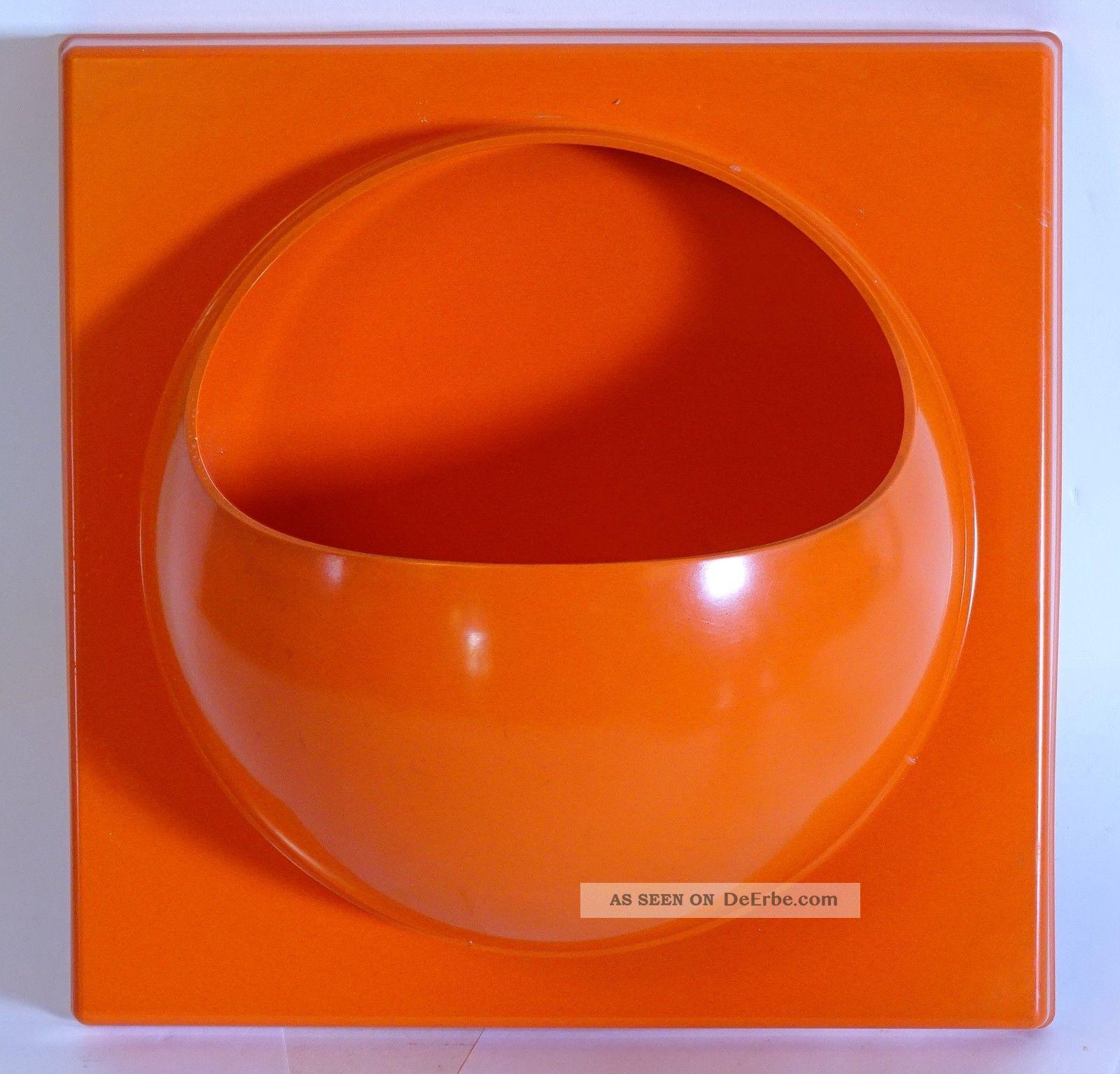 Schönbuch 70er Jahre Design Wand Box Quadro Lack Orange Space Age Wandregal 1970-1979 Bild
