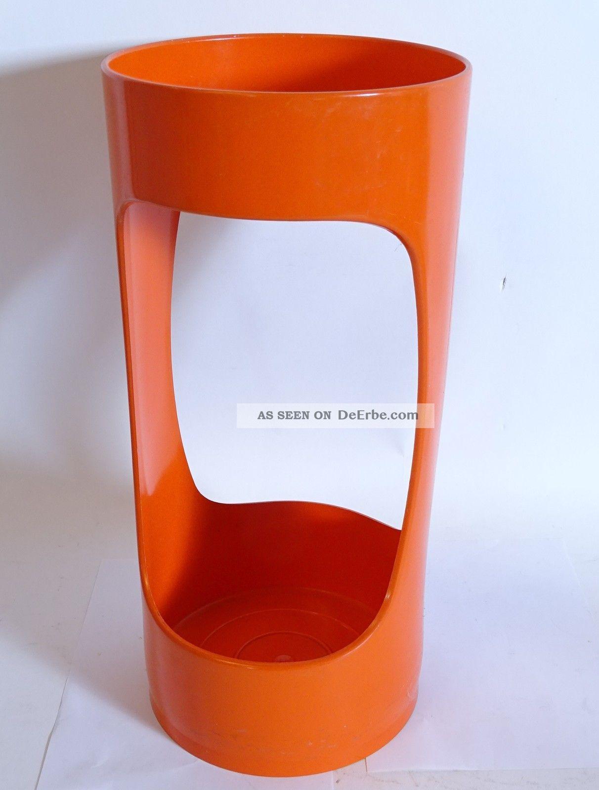 70er Jahre Schönbuch Design Schirmständer Lack Orange Space Age Rarität 1970-1979 Bild