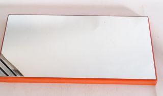 Space Age Rarität Spiegel Schönbuch Quadro Lack Orange 70er Jahre Design Bild
