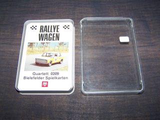Schönes Quartett Rallyewagen Nummer 0209 Bielefelder Von 1970 Bild