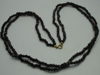 Sehr Schöne 2 Reihige Facettiert Geschliffenen Halskette Aus Böhmischen Granat Bild