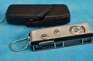 Sammlerstück Alte Pocketkamera Miniaturkamera Revue Mini - Star Mit Lederetui Bild