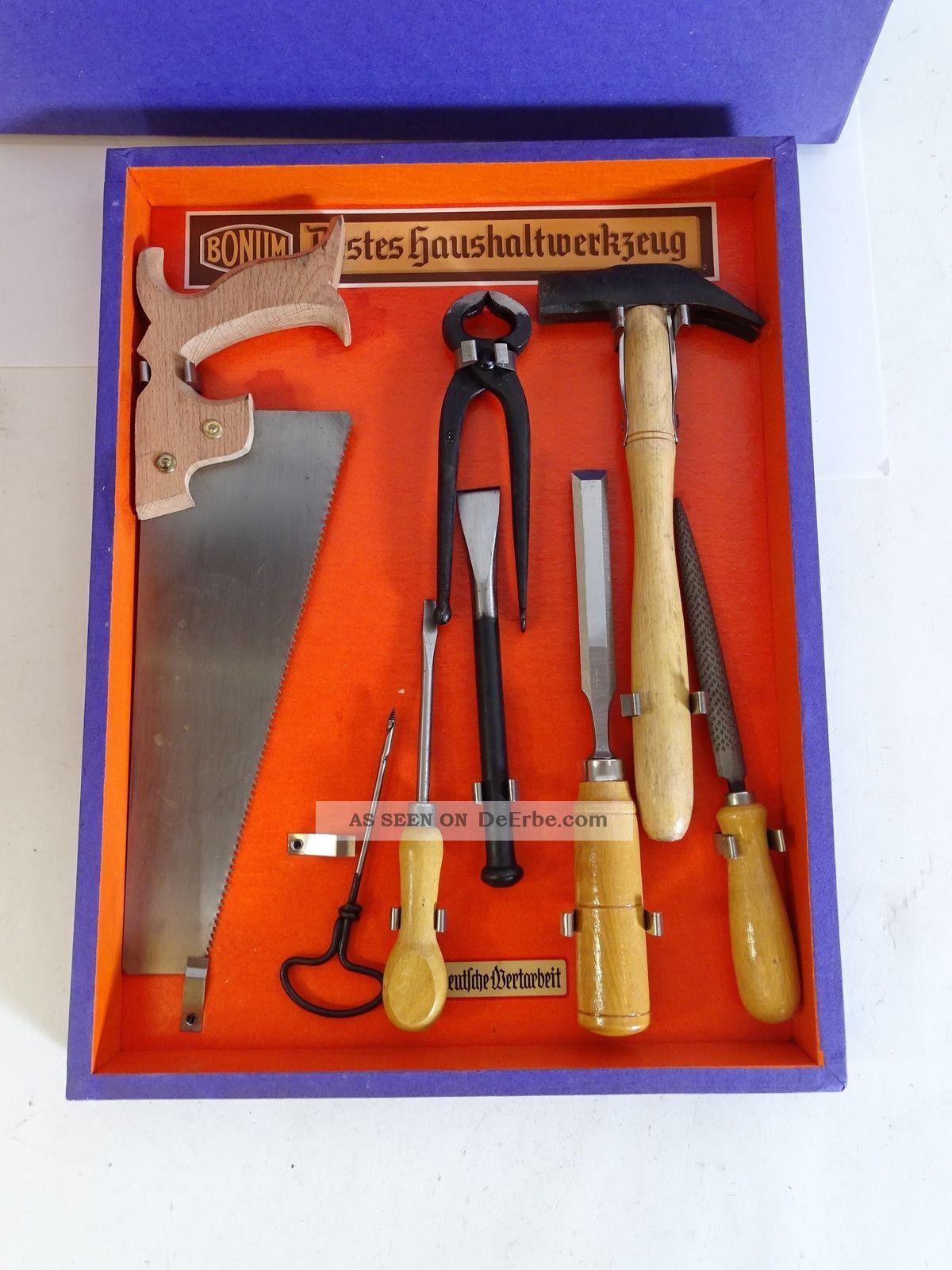 Rarität Bonum Bestes Haushaltwerkzeug Werkzeugkasten Unbenutzt Zimmermann Bild