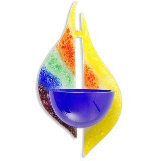 Weihwasserkessel Regenbogen Modern Glas 19 X 9,  5 X 4,  5 Cm Bild