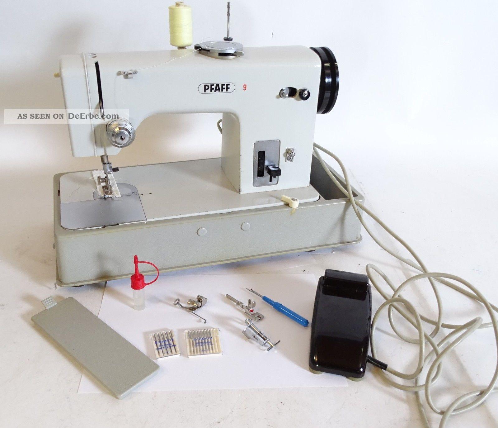 Vintage Pfaff 9 Nähmaschine Mit Zubehör In Koffer Haushalt Bild