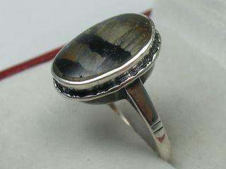 Sehr Schöner Alter Ring Um 1930 Aus Silber Mit Fluorit Bild