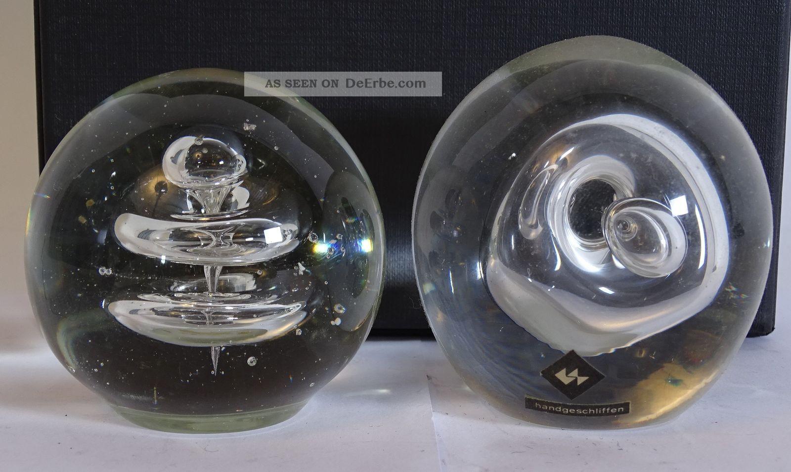 Paar Glas Design Paper Weights Ausgefallene Optik Dekoglas Sammler Dekorglas Bild