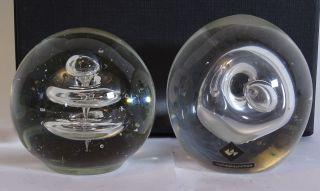 Paar Glas Design Paper Weights Ausgefallene Optik Dekoglas Sammler Bild