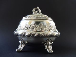 Deutsche 800 Silber Jugendstil Zuckerdose Sugar Box Art Nouveau Floral 8h Wmf 4 Bild