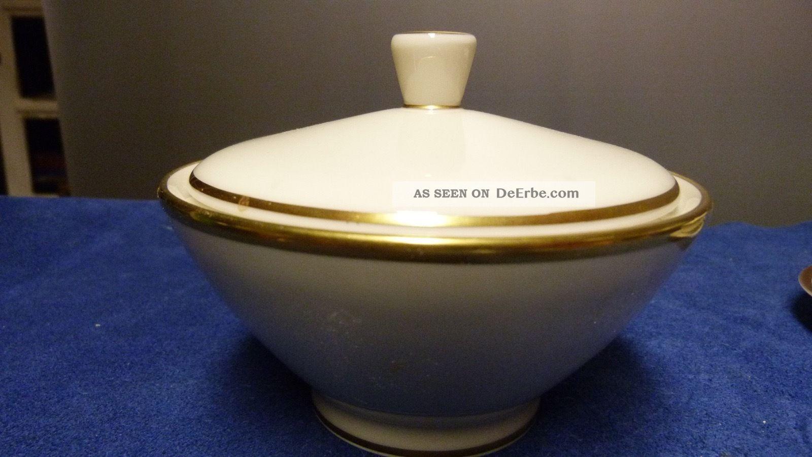 Rosenthal Bettina 50er Jahre Porzellan - Dose Bonboniere - Elfenbein/gold Nach Marke & Herkunft Bild