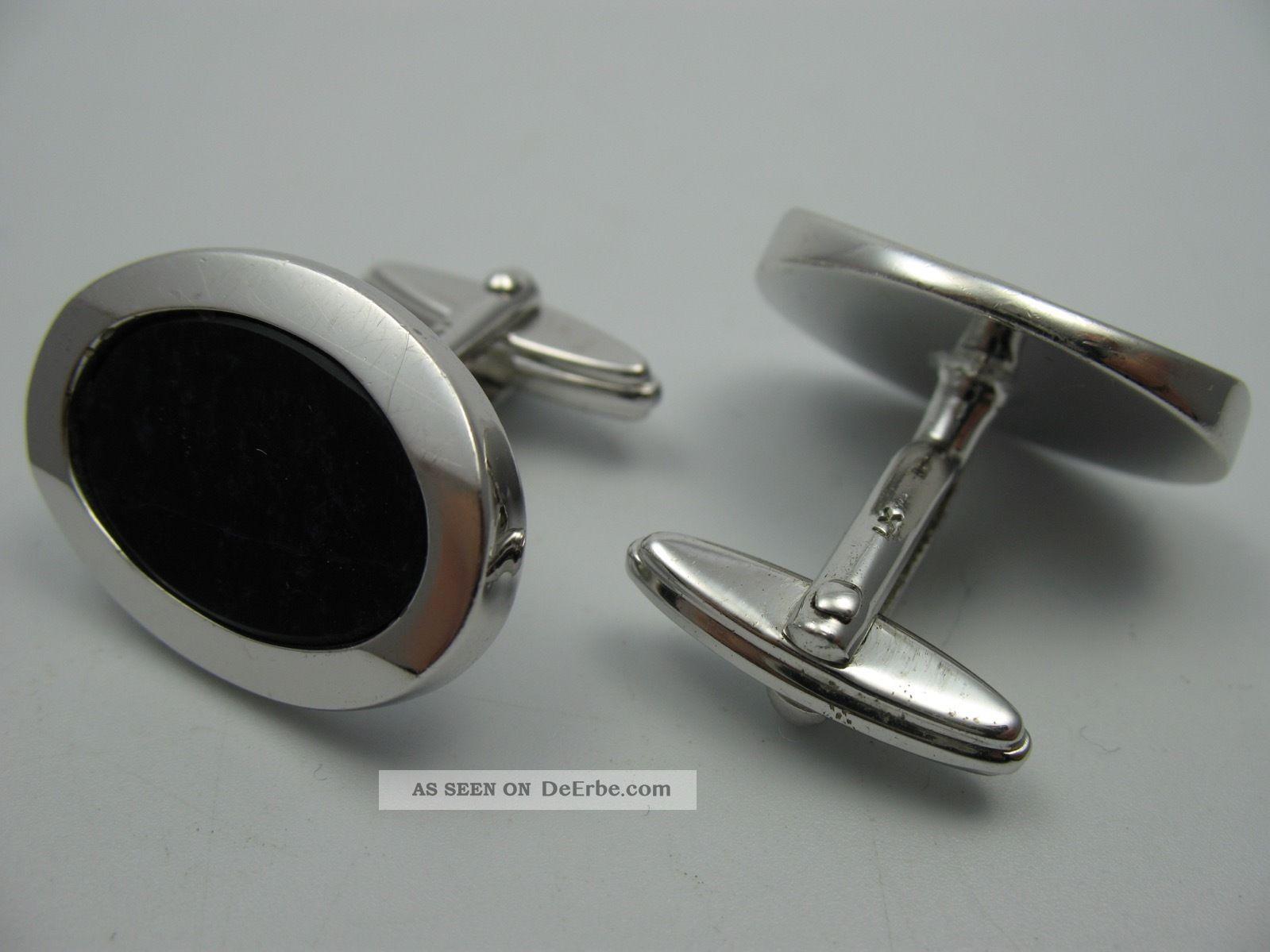 Schöne Massive 60er 70er Jahre Sodalith Manschettenknöpfe Aus 800 Silber Schmuck & Accessoires Bild