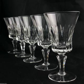 Weingläser 5x Vintage Kristall Oliven Kerbschliff Facettierter Stengel 13,  9cm Bild