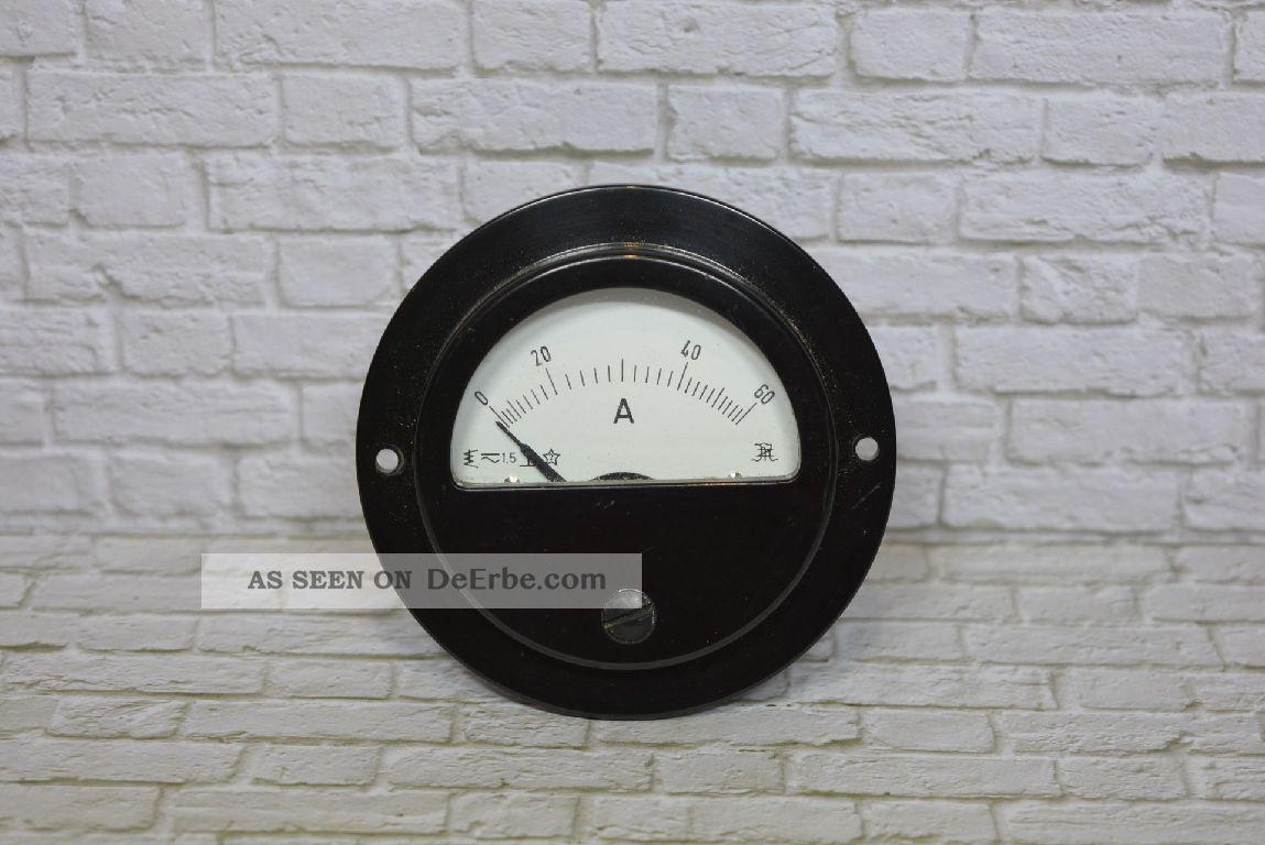 Müller & Ziegler Amperemeter 0 - 60a Ac; K23 1 Wissenschaftliche Instrumente Bild
