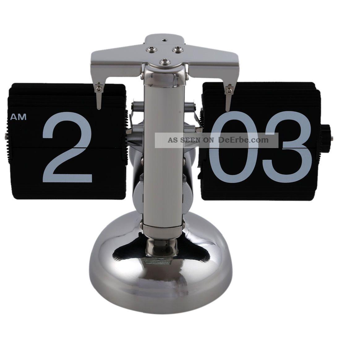 Retro Flip Down Durchblaetternde Uhr Innengetriebe Betrieben A5g3 N6b5 1970-1979 Bild