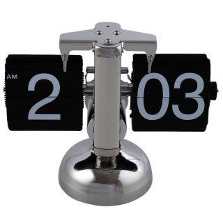 Retro Flip Down Durchblaetternde Uhr Innengetriebe Betrieben A5g3 N6b5 Bild