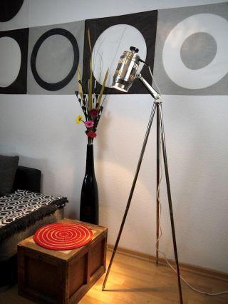 Tripod Bauhaus Lampe Dreibein Stehlampe Art Deco Vintage Design Leuchte Bild