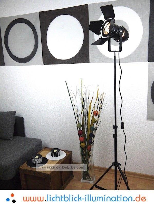 Film Tripod Studio Strahler Bauhaus Steh Lampe Loft Design Spot Leuchte Art Deco Ab 2000 Bild