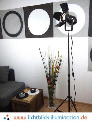 Film Tripod Studio Strahler Bauhaus Steh Lampe Loft Design Spot Leuchte Art Deco Bild