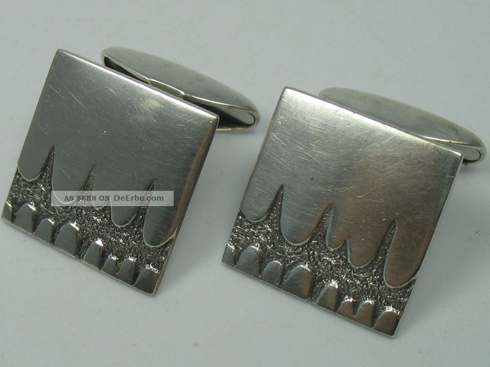 Skandinavien Klasse 60er 70er Jahre Designer Manschettenknöpfe Aus 830 Silber Schmuck & Accessoires Bild