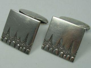 Skandinavien Klasse 60er 70er Jahre Designer Manschettenknöpfe Aus 830 Silber Bild
