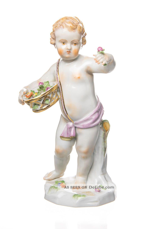 Figur Allegorie Frühling Meissen Bemalt 1.  Wahl Modell 61062 Top Meissen Bild