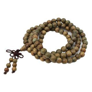 Sandelholz Buddhist Hals Kette Gebetskette Armband Buddha Tibet 108 Wulst G A3x5 Bild