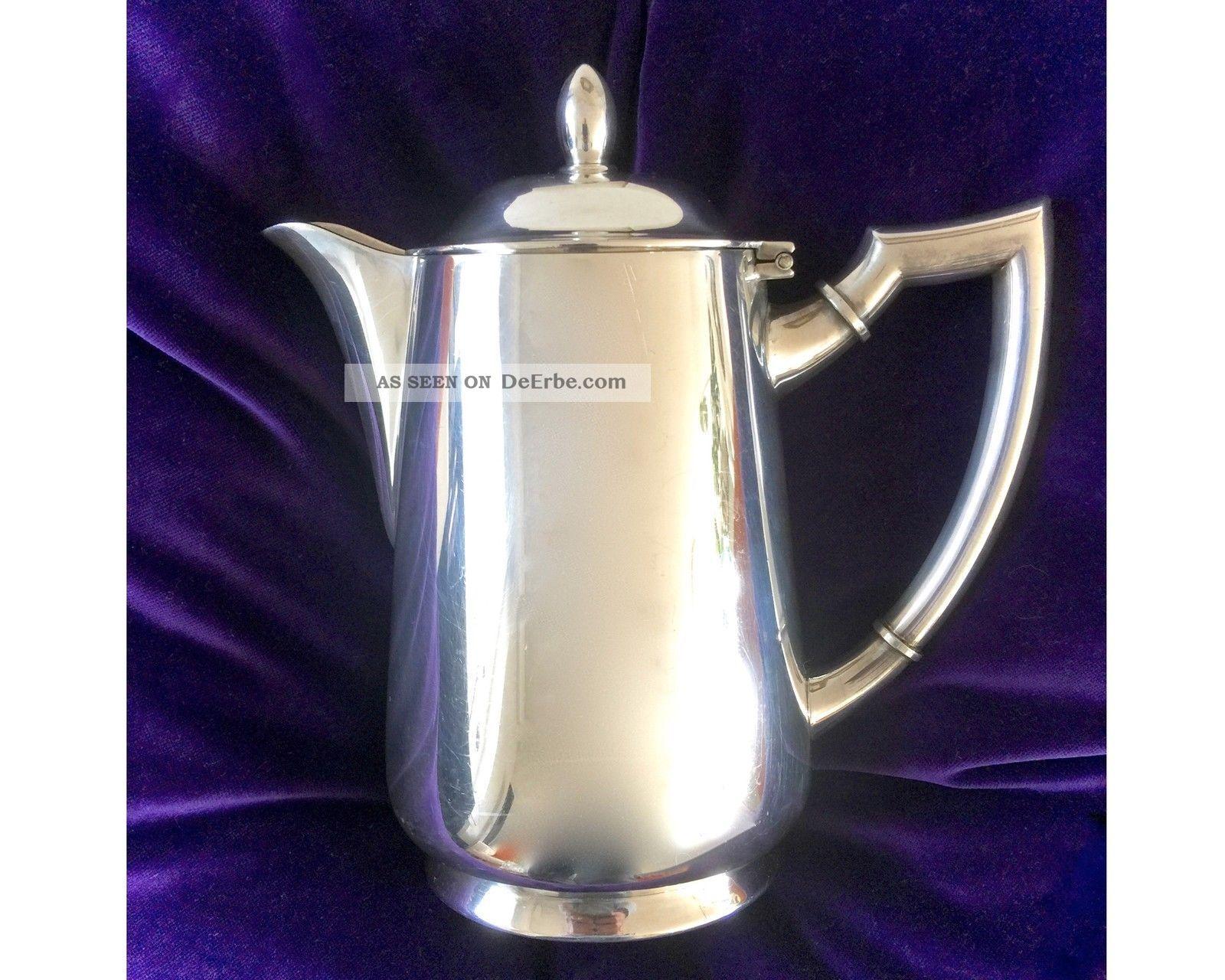 Wmf Versilbert Grosse Art Deco Kanne Kaffeekanne 1 Liter Silver Plated Jug Objekte ab 1945 Bild