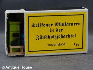 Erzgebirge Volkskunst Seiffener Miniaturen In Der Zündholzschachtel Hutzenstube Bild