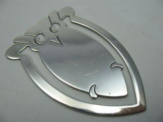 Wunderschönes Eule Lesezeichen Aus 925 Sterling Silber Bild