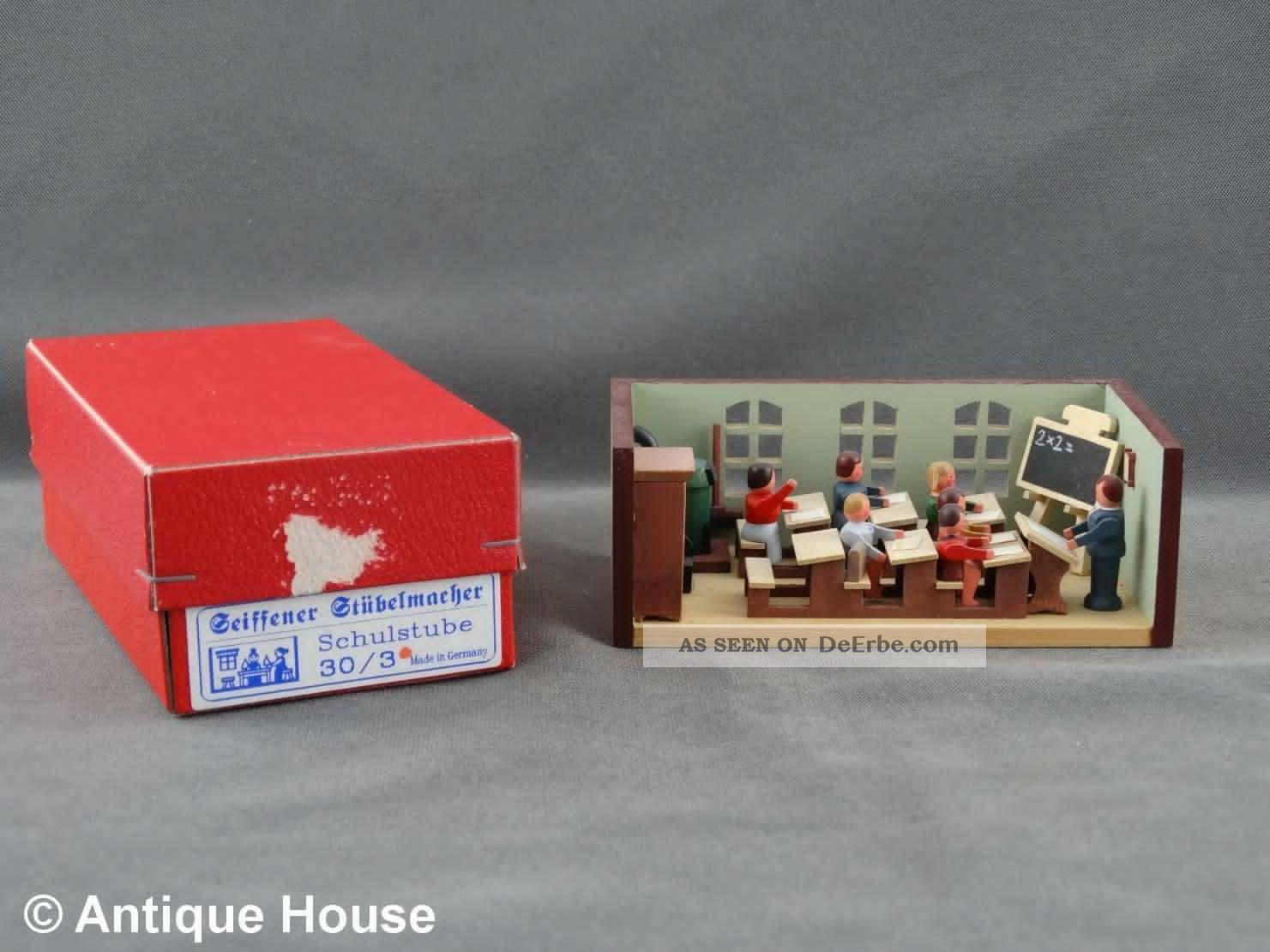 Erzgebirge Volkskunst Miniatur Seiffener Stübelmacher Schule Objekte nach 1945 Bild