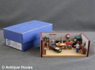 Erzgebirge Volkskunst Miniatur Seiffener Stübelmacher Spielzeugmacherstube Bild