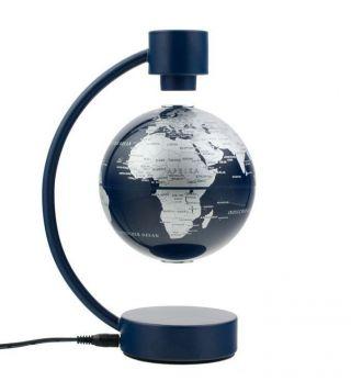 Stellanova Globus 10cm Silber / Blau 881090 Magnet - Schwebeglobus Globe World. Bild