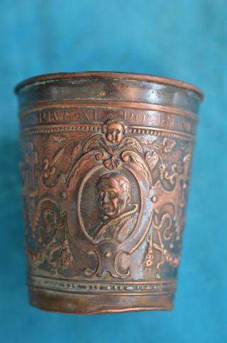 Alter Antiker Taufbecher Kirchenbecher Mit Bildnis Pius Xi Poni Max 1925 Bild