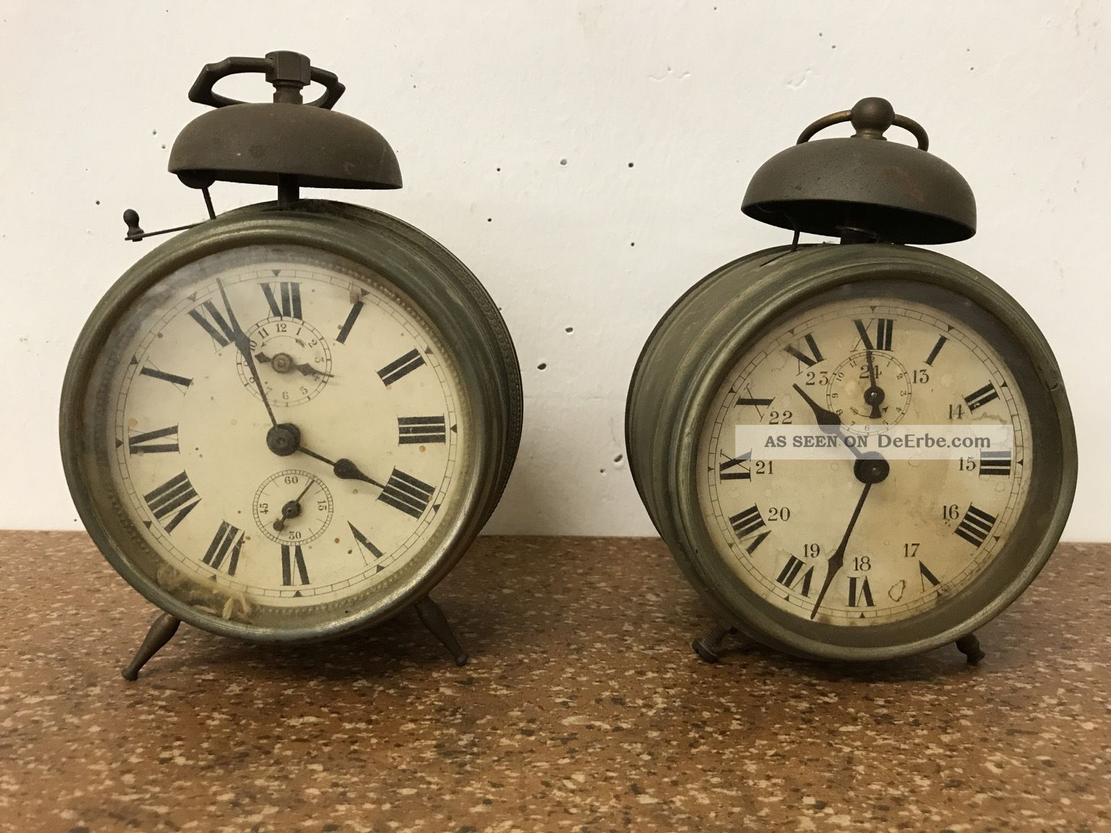 2 Franz.  Antike Wecker Tischuhr Uhr - Pignons Acier Tailles,  Le Vainqueur Fab Antike Originale vor 1950 Bild