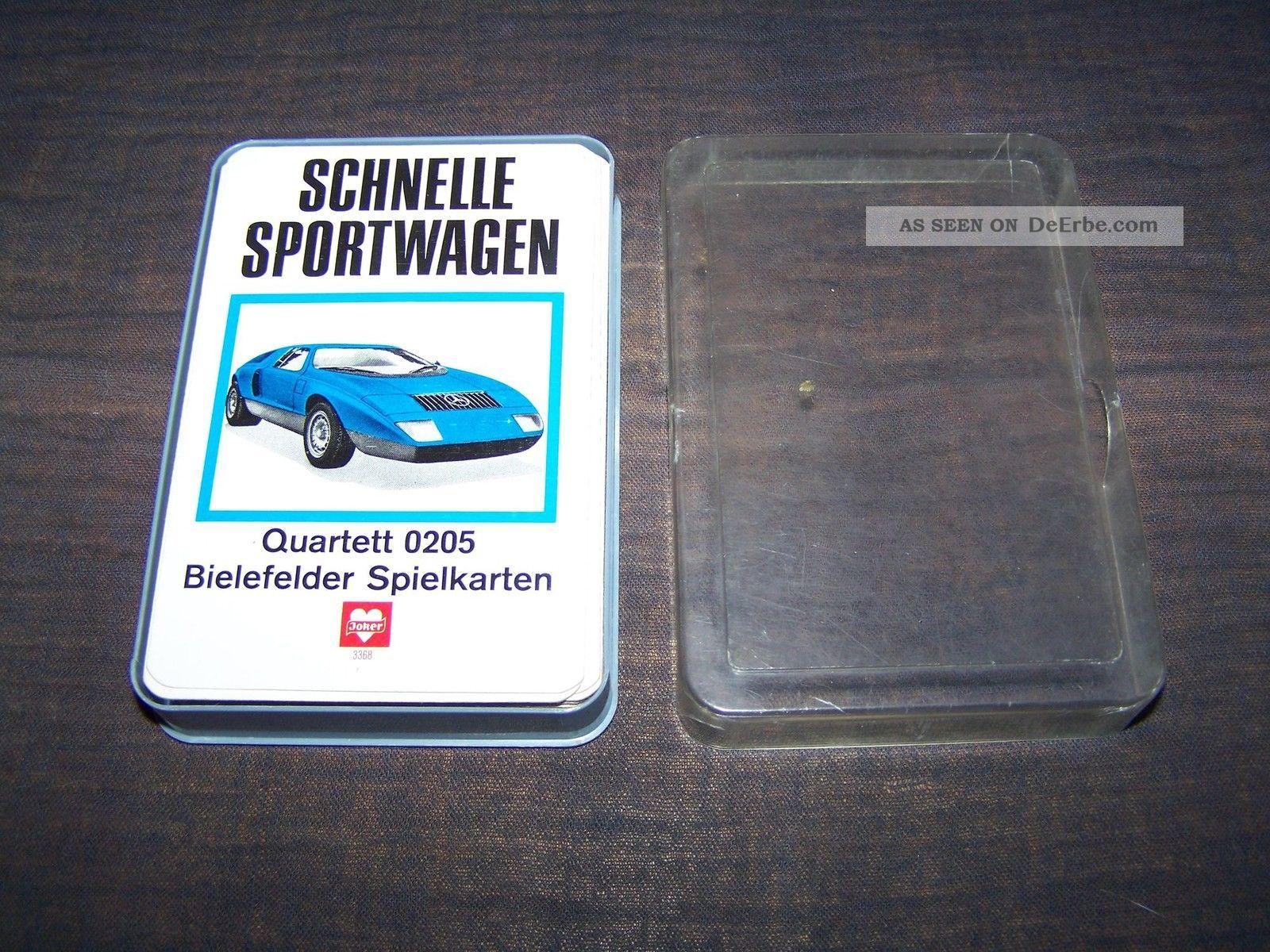 Schönes Quartett Schnelle Sportwagen Nummer 0205 Bielefelder Von 1970 Gefertigt nach 1945 Bild