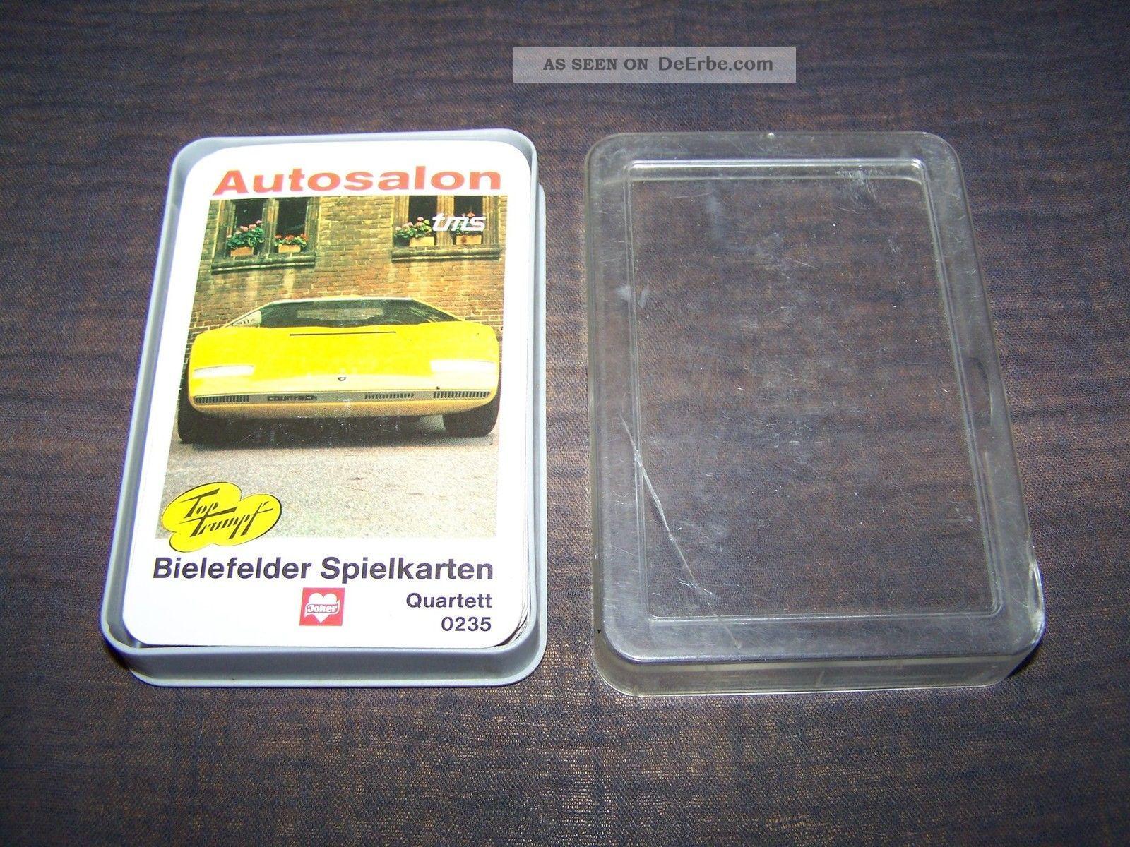 Schönes Quartett Autosalon Nummer 0235 Bielefelder Von 1972 Gefertigt nach 1945 Bild