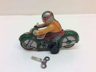 Altes Blechspielzeug Uhrwerk Motorrad Zum Aufziehen Ms275 Bild