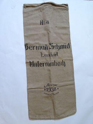 Antiker Sack H.  Schmid Landwirt Unterrombach Jutesack Vintage Shabby Chic Aalen Bild