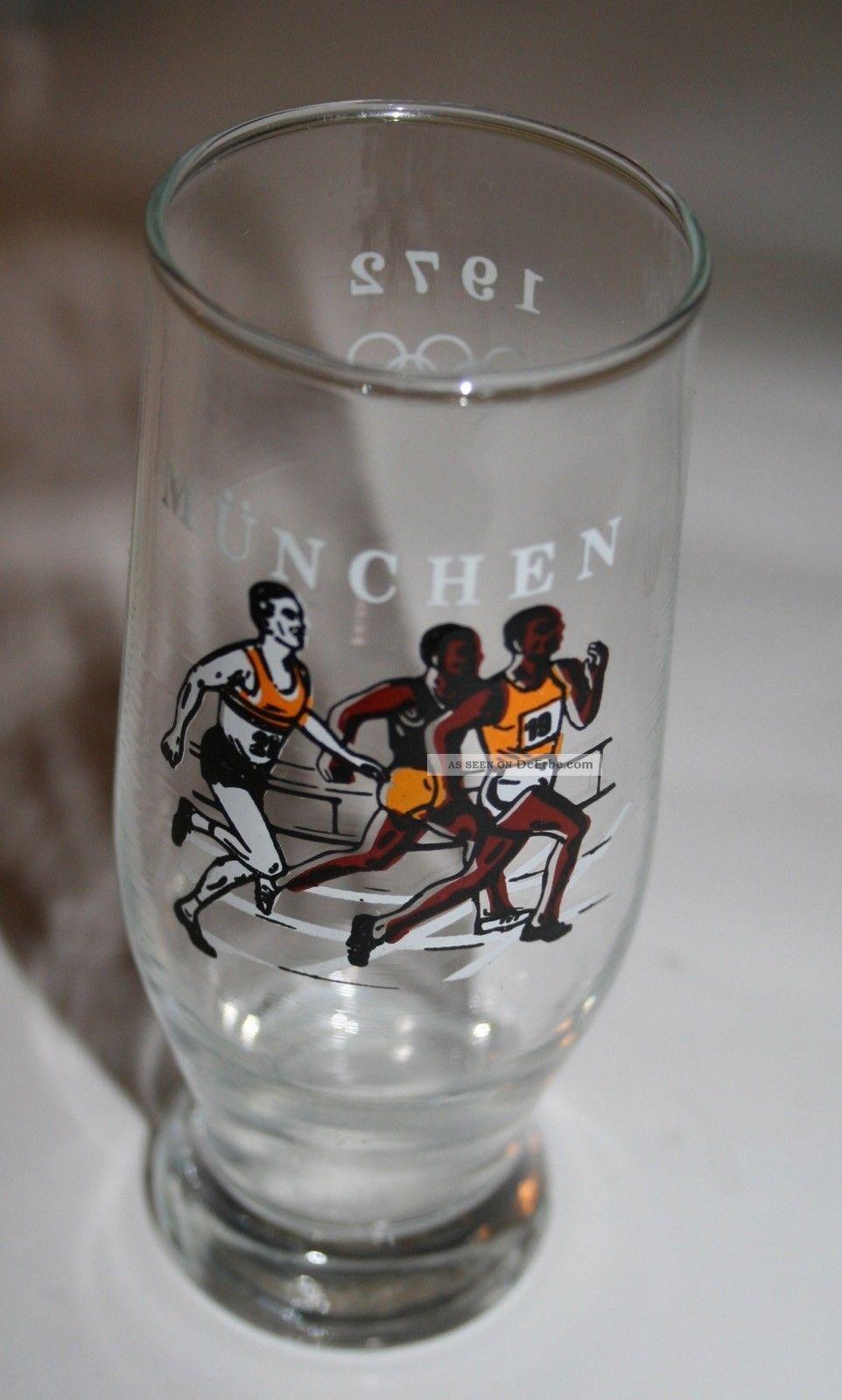 70er Jahre Glas Bierglas Olympiade 1972 München 1970-1979 Bild
