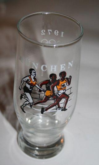 70er Jahre Glas Bierglas Olympiade 1972 München Bild