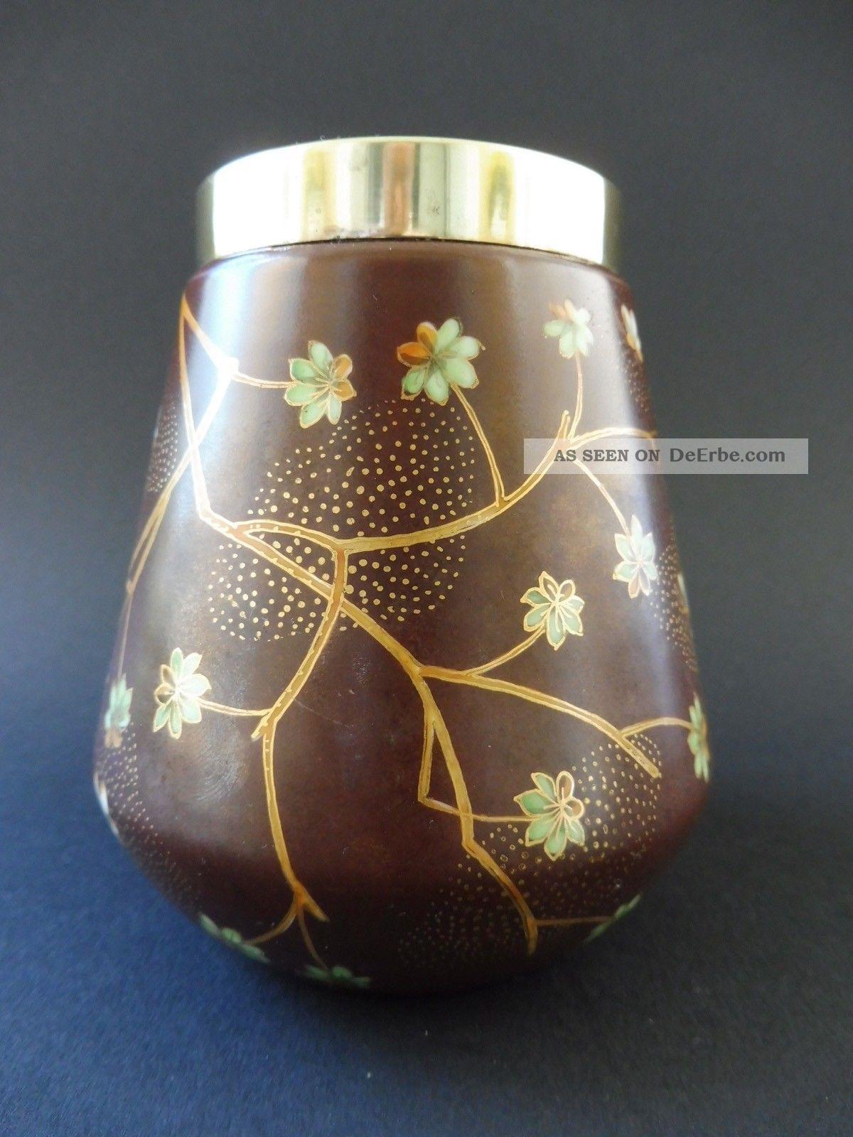 French Jugendstil Schmetterling Vase Floral Japonismus Art Nouveau Japonisme Fly 1890-1919, Jugendstil Bild