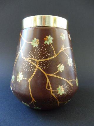French Jugendstil Schmetterling Vase Floral Japonismus Art Nouveau Japonisme Fly Bild