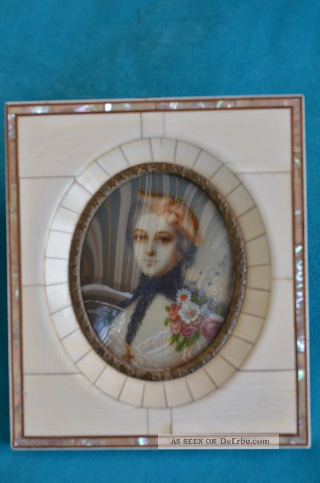 Alte Antike Lupenmalerei Miniaturmalerei Signiert Seguin Um 1860/1880 Miniaturen & Silhouetten Bild
