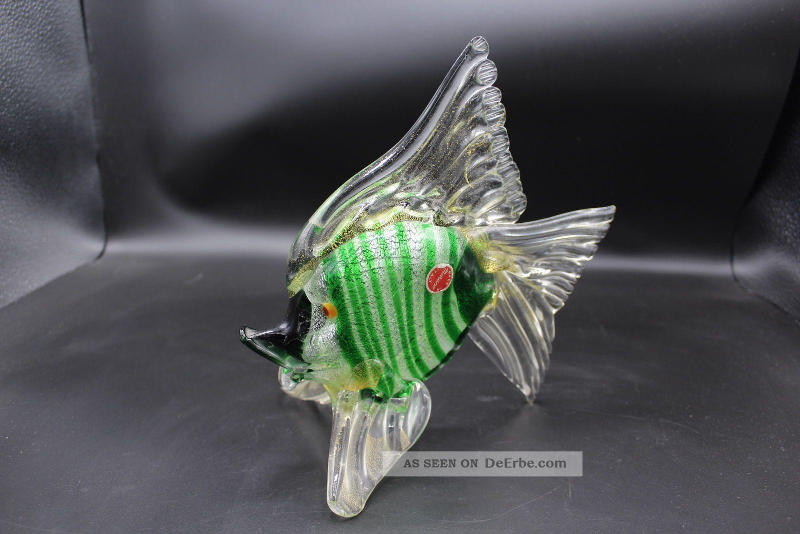 Murano Glas - Fisch 1960? Glaskunst Glasobjekt Mille Fiori Glas & Kristall Bild