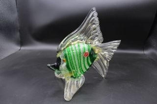 Murano Glas - Fisch 1960? Glaskunst Glasobjekt Mille Fiori Bild