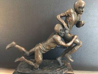Bronzefigur Vintage American Football Pokal Marmor - Sockel Signiert Milo Bild